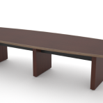 Arched End Boat Conference Table 48'w x 84″l- 240″l