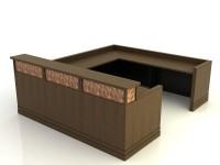 Cambridge- Desk with Return Bridge and Credenza