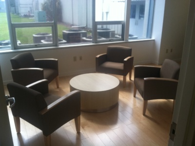 circular tables, public spaces furniture