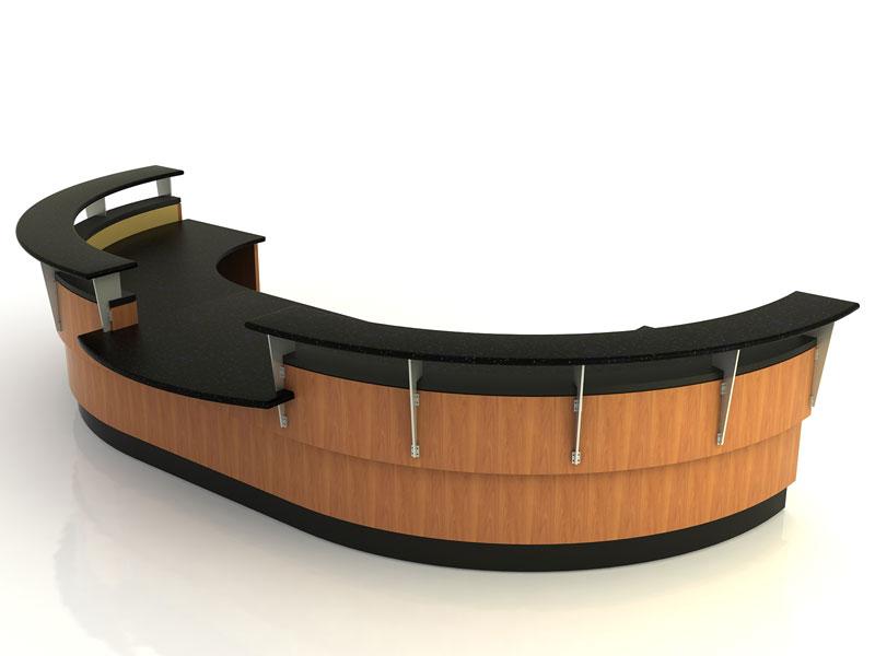 Frisco- Desk with Return Bridge and Credenza