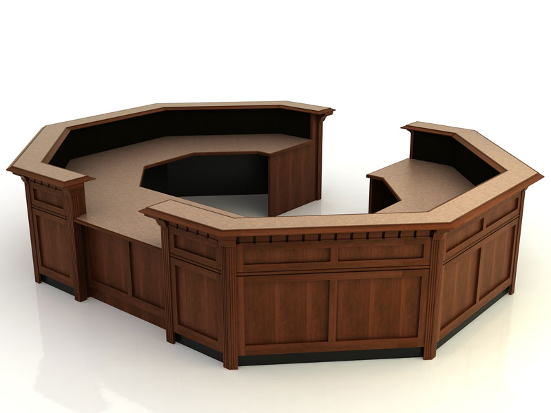Jamestown II- Desk with Return Bridge and Credenza