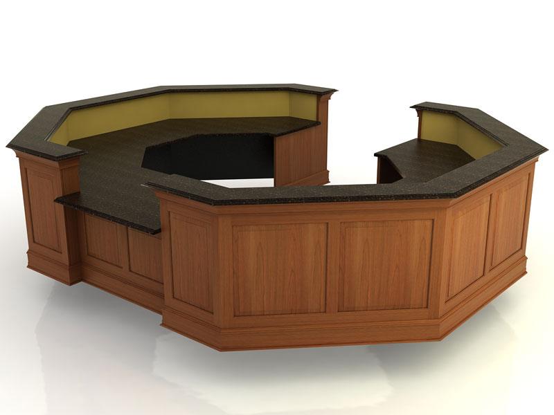 Kendall Lane II- Desk with Return Bridge and Credenza