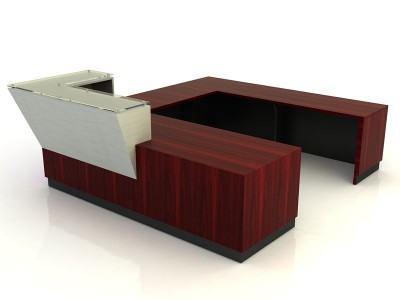 Nuevo- Desk with Return Bridge and Credenza