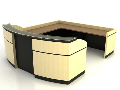 Reflection- Desk with Return Bridge and Credenza