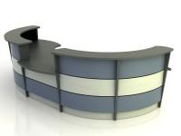 Stratus- Desk with Return Bridge and Credenza