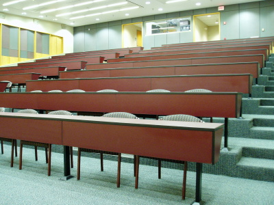 classroom furniture, tiered classroom