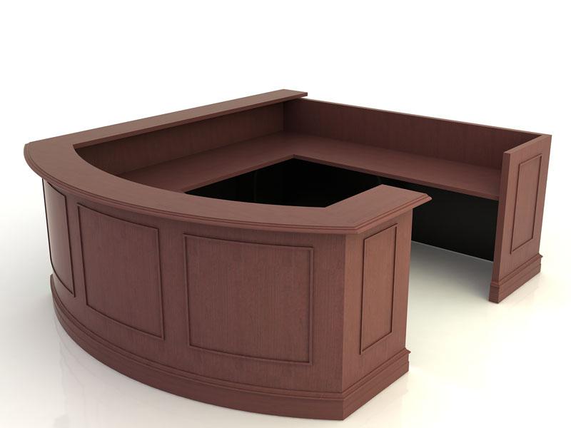 Williamsburg- Desk with Return Bridge and Credenza