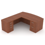 Bow Front Desk With Left Hand Return