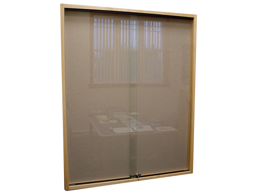 Trophy Case Sliding Door Wall Display