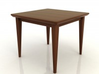 Square Table in Veneer