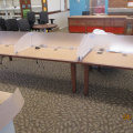 study tables, Clear partition