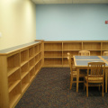 bookcases, library tables