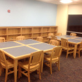 library tables, bookcases