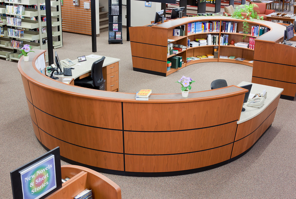 james prendergast library - Library Circulation Desk Design