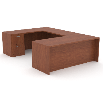 office desk with return and credenze