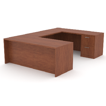 office desk with return, and credenza