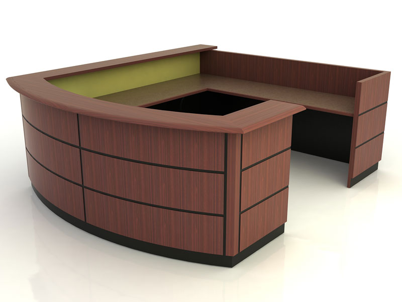 Amherst- Desk with Return Bridge and Credenza