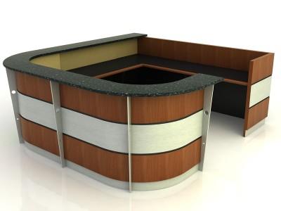 Amsterdam- Desk with Return Bridge and Credenza
