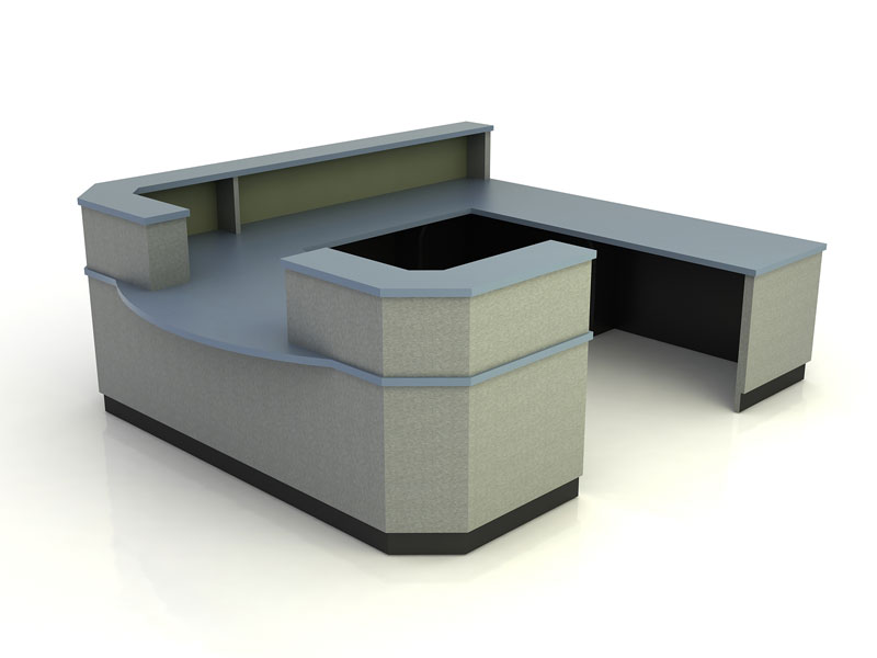 Aurora- Desk with Return Bridge and Credenza