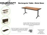 Rectangular- Metal Base