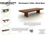 Rectangular- Wood Base