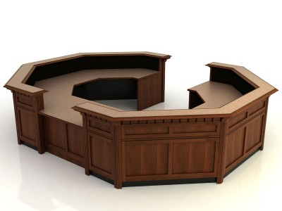 Jamestown II- Desk with Return Bridge and Credenza