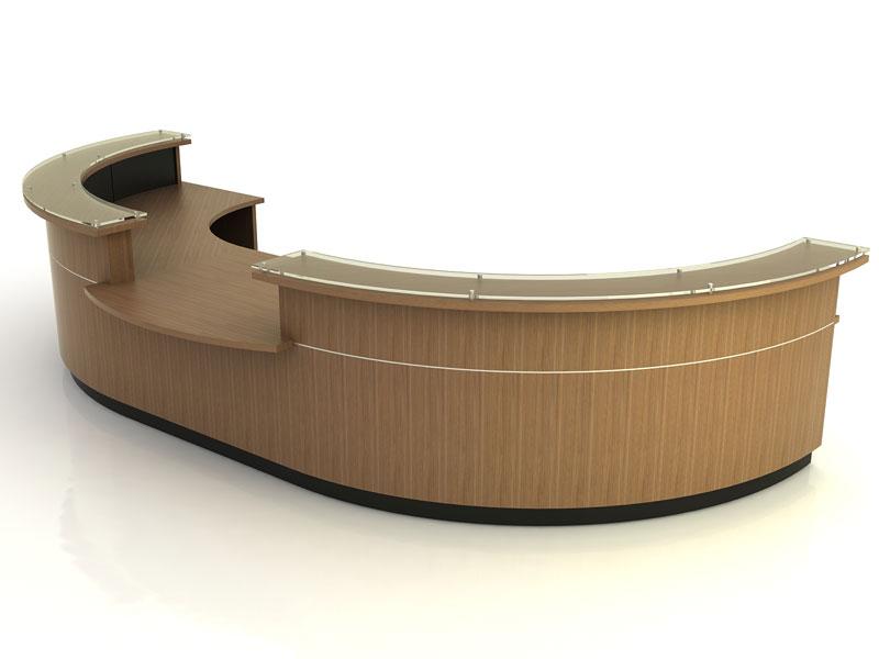Marietta- Desk with Return Bridge and Credenza