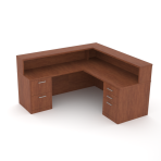 Reception desk with 48″ left hand return