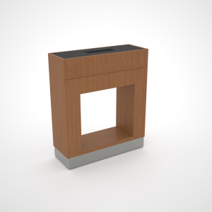 rectangular cutout plinth